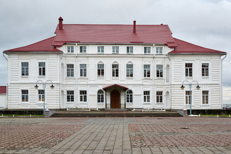 classicism: Bishops Palace in the Baroque style and early classicism in Mogilev built according to the project of Vilnius architect J. Glaubitz. Editorial