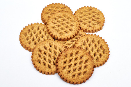 cookies with bran on the white background