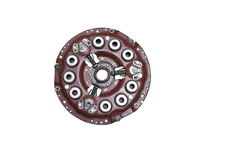 Car clutch plate isolated on a white background.