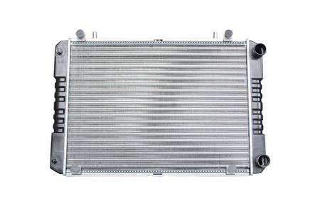 car radiators on an isolated background Stock Photo