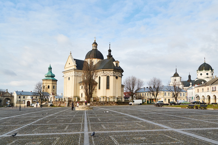 LVIV, UKRAINE - December 25,2017: Zhovkva Historic Centre