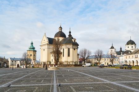 LVIV, UKRAINE - December 25,2017: Zhovkva Historic Centre 免版税图像 - 95169284