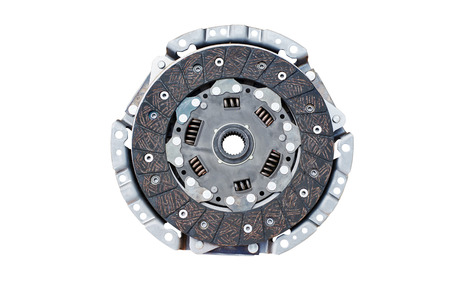 clutch disc and clutch basket on a white background 免版税图像