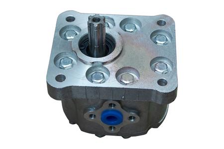 oil gear pump hydraulic system of the tractor Archivio Fotografico