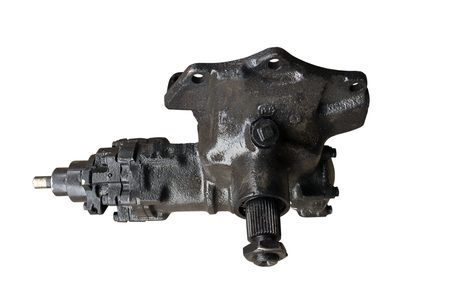 Steering gear isolated on white background 免版税图像