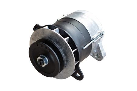 car alternator isolated on white. Stock Photo