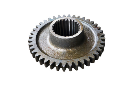 third gear of the intermediate shaft of gear box on isolated white background