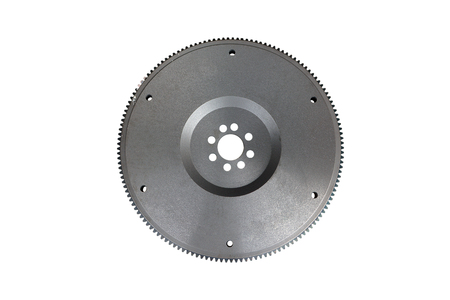 flywheel for automotive diesel engine on a white background Stock Photo