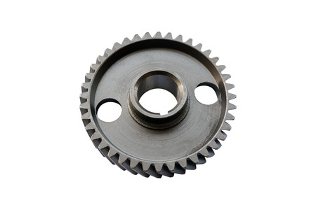 truck camshaft gear on isolated white background