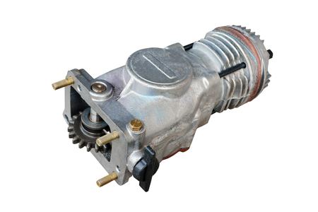 pneumatic compressor for the brake system of a truck on an isolated white background Stock fotó