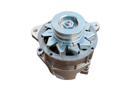 Car alternator isolated on white. Clipping path included. Foto de archivo - 115022928