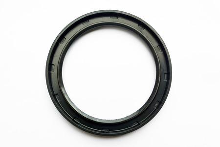 Oil seal isolated on white background Stock Photo