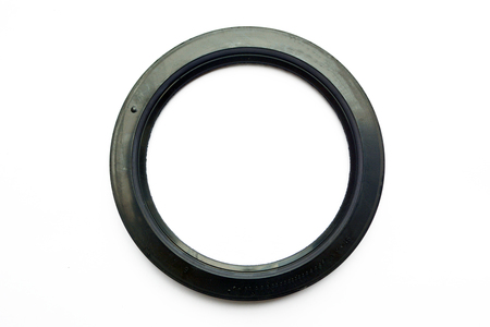 Oil seal isolated on white background Stockfoto