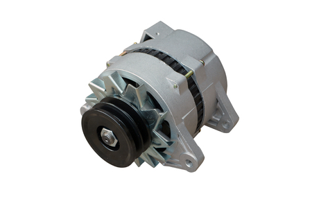 Alternator. Image of car alternator isolated on white. Clipping path included. Foto de archivo - 115023152
