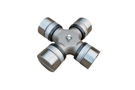 Propeller shaft, universal joint, isolated on white background