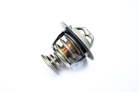 Broken thermostat of the car on an isolated white background Stockfoto