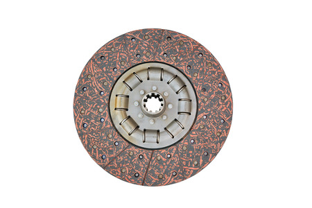 Disk clutch ??ar isolated on a white background.