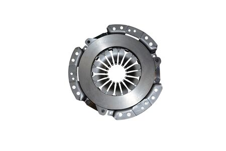 Clutch disc car on white