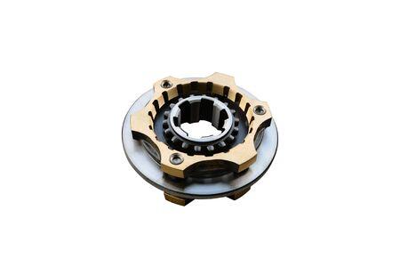 Synchronizer gear box isolated on white Фото со стока