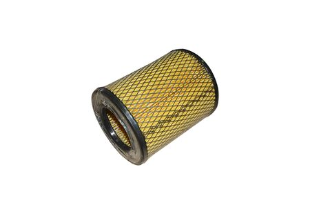 Air filter, auto spare part isolated on white