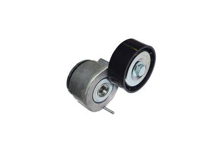 Car belt tensioner on the white