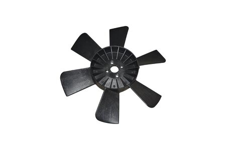 Plastic car radiator cooling impeller on isolated white Фото со стока