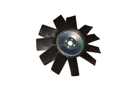 Car cooling fan with plastic blades radiator fan on white