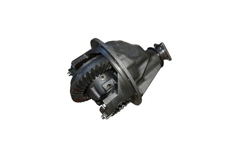 Differential rear axle of the car. Rear-wheel drive truck gearbox Фото со стока