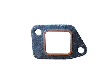New automotive gasket for the exhaust system isolated on white background.