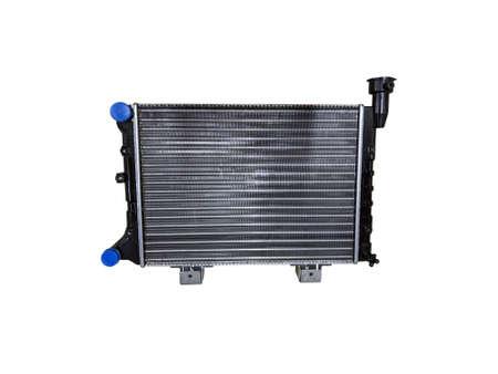 Car radiator isolated over white background. New spare parts. Zdjęcie Seryjne