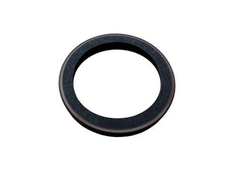 Oil seal isolated on white background. New spare parts.