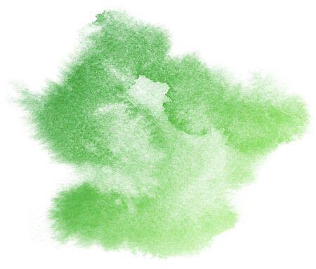acuarela verde sobre background.This blanco de acuarela de colores fue dibujado por hand.They son salpicaduras de la acuarela, mancha de la acuarela y la acuarela blot.