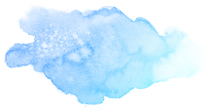 watercolour background: Abstract blue watercolor on white background.This is watercolor splash.It is drawn by hand.