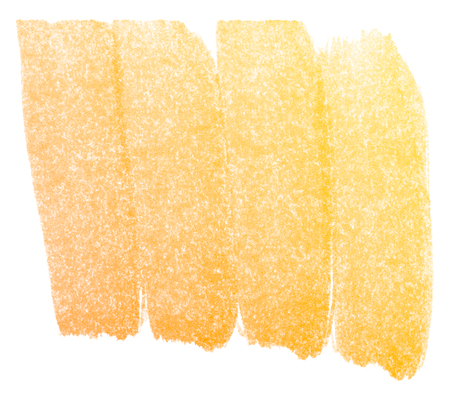 yellow paint: Abstract yellow watercolor on white background. Stock Photo