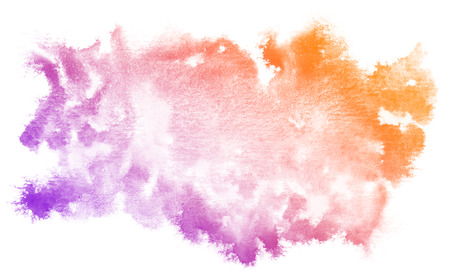 Abstract purple watercolor on white background.This is watercolor splash.It is drawn by hand.