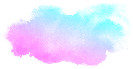 pastel color: Abstract pink watercolor on white background.This is watercolor splash.It is drawn by hand.