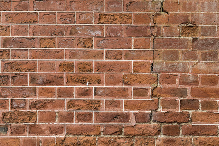 The exterior brick wall of a 17th century stately home in England