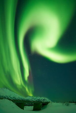 Aurora Borealis forming the letter R
