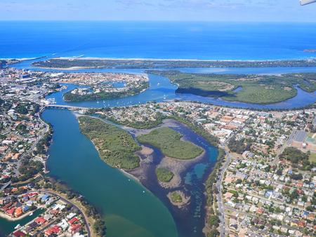 gold coast australia: Aerial view of Gold Coast  Surfers Paradise, Australia