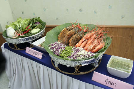 Thailand seafood ready to eat photo