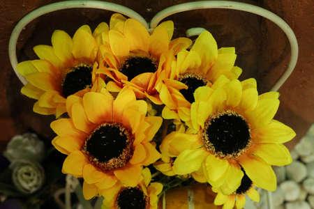 Artificial sunflower Stock Photo