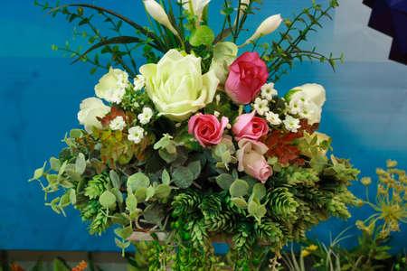 arrangement of roses