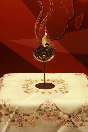 art on table