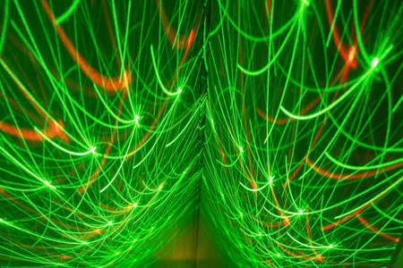 Abstract light on green wall Stock Photo
