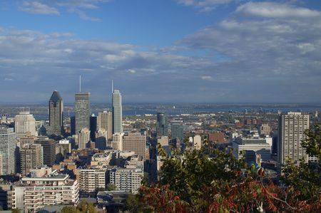 A view of Montreal Downtown from Mont-Royal Park Stock Photo - 2461388
