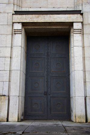reich: Main exterior door of Zeppelin Tribune, Nuremberg, Germany