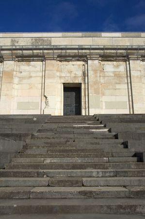 reich: Main door with steps of Zeppelin Tribune, Nuremberg, Germany