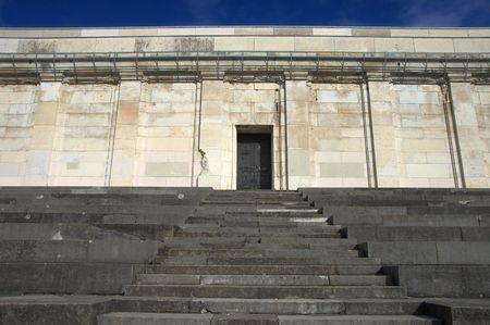 tribune: Main door with steps of Zeppelin Tribune, Nuremberg, Germany