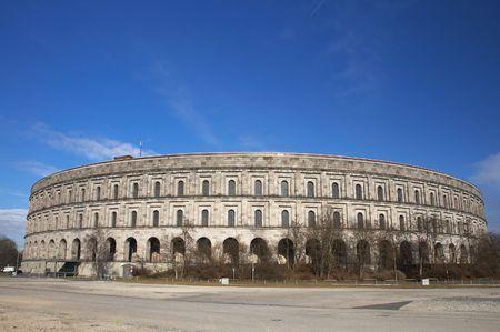 des: Exterior of Hitlers Palais des Congres, Nuremberg, Germany