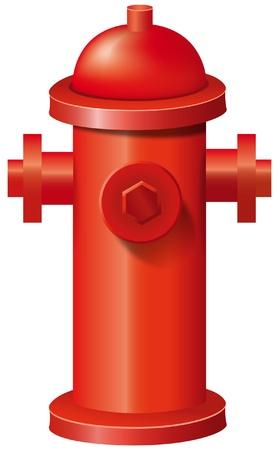 bombero de rojo: Ilustraci�n de una boca de incendios Vectores